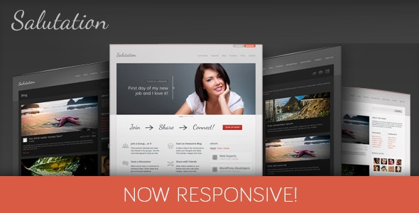 Salutation Responsive WordPress Theme - BuddyPress WordPress