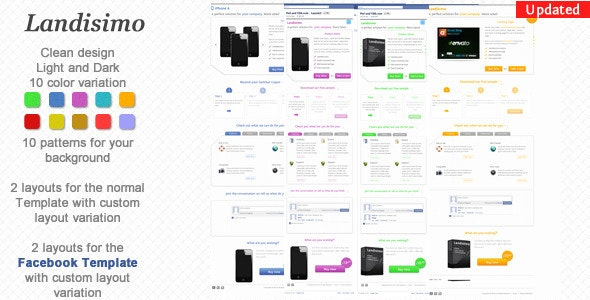 Landisimo - Landing Page with Facebook Template - Landing Pages Marketing