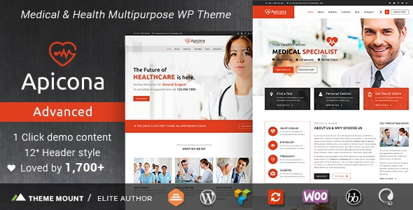 Apicona - Health & Medical WordPress Theme - Health & Beauty Retail