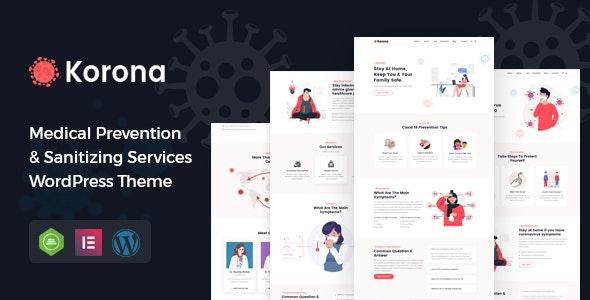 Korona - Medical Prevention & Sanitizing Services WordPress Theme - Health & Beauty Retail