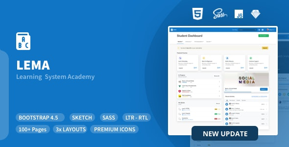 LEMA - Learning System Management Academy - Admin Templates Site Templates