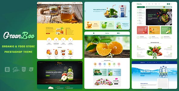 GreenBee - Vegetable and Fruit Shop Prestashop 1.7 Theme