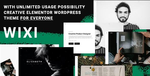 Wixi -  Creative Portfolio Elementor Theme - Portfolio Creative