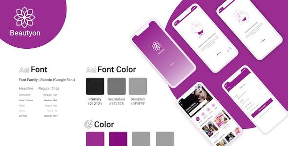 Beautyon - Beauty Parlour Booking & Beauty Expert Mobile App UI Kit