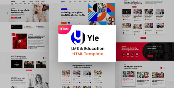YLE - Education & LMS HTML Template - Business Corporate