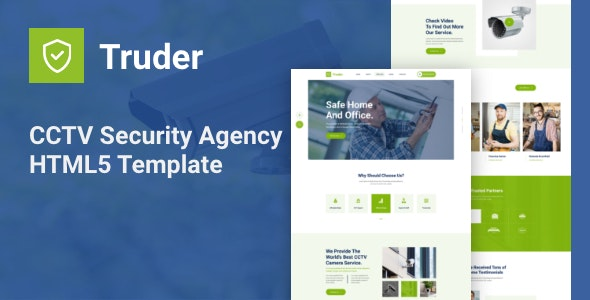 Truder - CCTV Security Service Agency HTML Template - Business Corporate