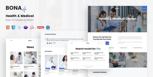 Bona - Health & Medical React JS Template
