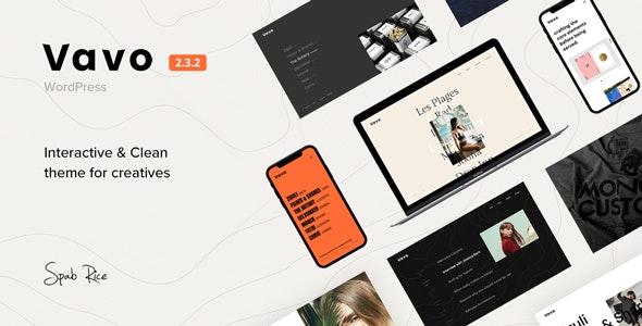 Vavo - An Interactive & Clean Theme for Creatives - Portfolio Creative