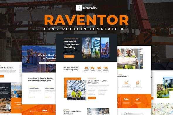 Raventor - Construction & Architecture Elementor Template Kit - Real Estate & Construction Elementor
