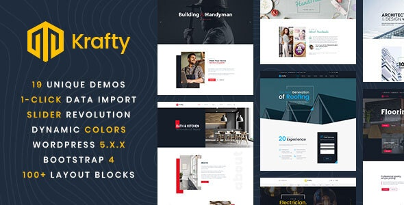 WordPress Theme For Home Repair & Constructions - Krafty - Business Corporate