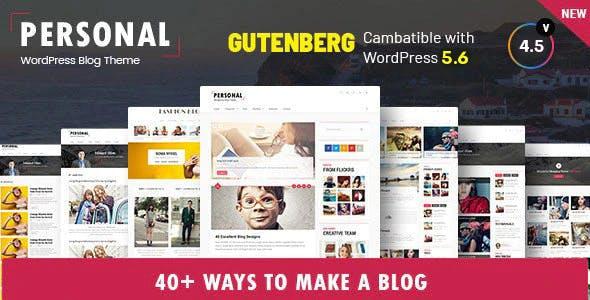 Personal - Best Blog, CV and Video WordPress Theme