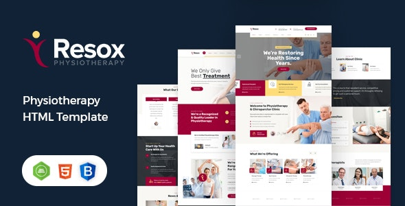 Resox - Physiotherapy HTML Template - Health & Beauty Retail