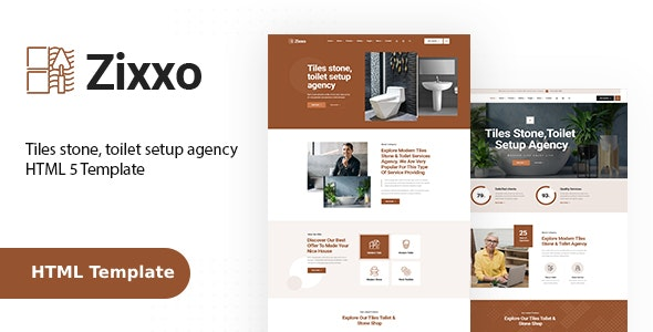 Zixxo : Flooring, Paving and Tiling Services HTML Template - Business Corporate