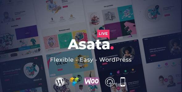 Asata - Responsive Multi-Purpose WordPress Theme - Portfolio Creative