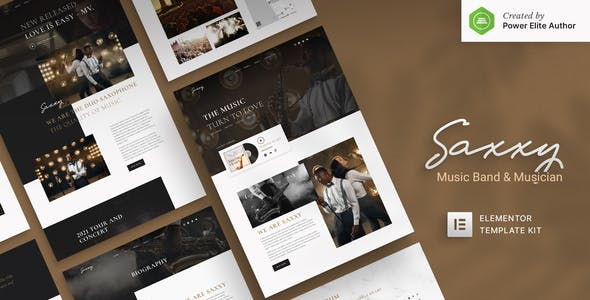 Saxxy - Music Band & Musician Elementor Template Kit