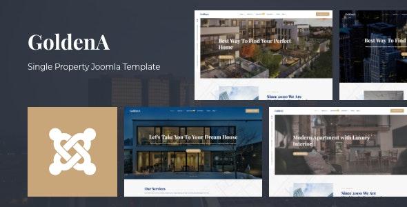 GoldenA - Single Property Joomla Template - Retail Joomla