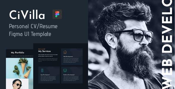 CiVilla - Personal CV_Resume Figma UI Template