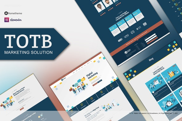 TOTB  - Marketing Solution Elementor Template kit - Business & Services Elementor