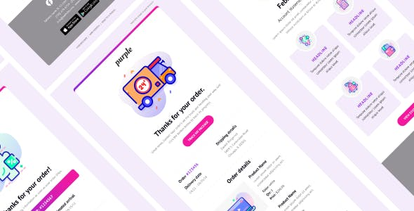Purple - Notification & Transactional Email Templates