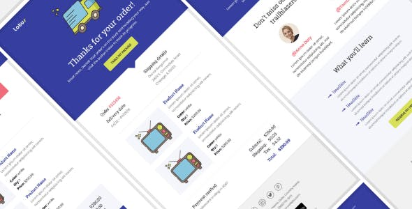 Lotus - Notification & Transactional Email Templates with Online Builder