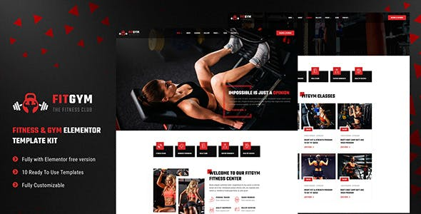 FitGym - Fitness & Gym Elementor Template Kit