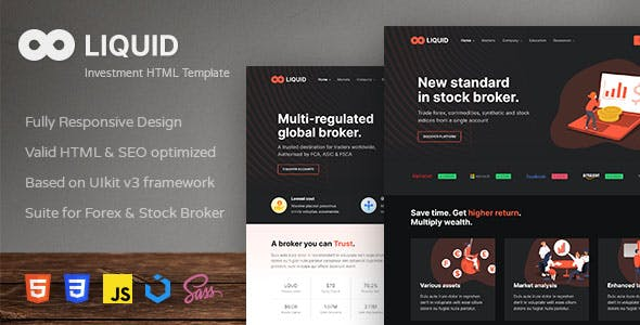 Liquid - Investment and Stock Broker HTML Template