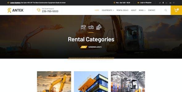 Antek - Construction Equipment Rental HTML
