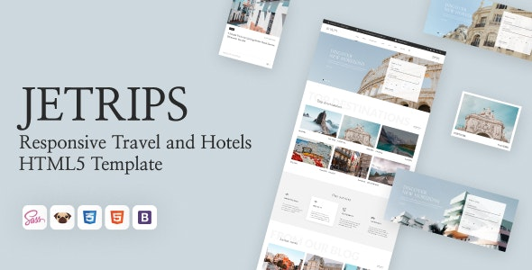 Jetrips - Responsive Travel and Hotels HTML5 Template - Travel Retail