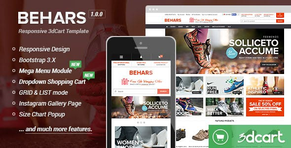 Behars - Responsive 3dCart Template (Core)