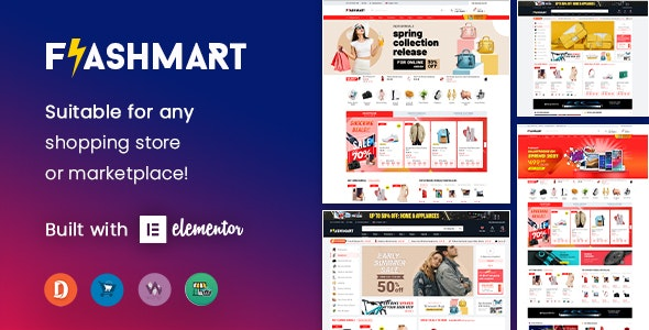FlashMart - Multipurpose Elementor WooCommerce WordPress Theme (Mobile Layout Ready) - WooCommerce eCommerce