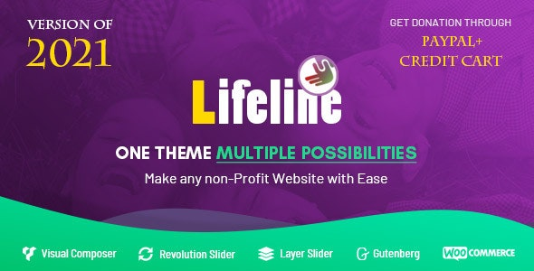 Lifeline - NGO, Fund Raising and Charity WordPress Theme - 12