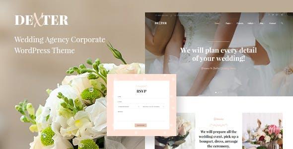 Dexter - Elegant Wedding WordPress Theme