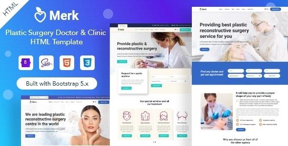 Merk - Cosmetic & Plastic Surgery HTML Template - Health & Beauty Retail