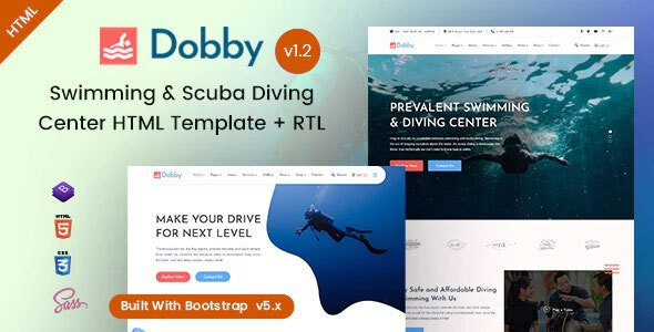 Dobby - Swimming & Scuba Diving HTML Template - Health & Beauty Retail