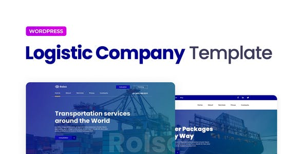 Rolso – Logistic Company Elementor Template Kit