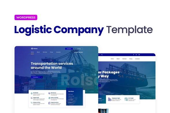 Rolso – Logistic Company Elementor Template Kit - Automotive & Transportation Elementor