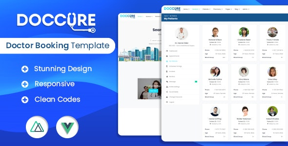 Doccure - Doctor Appointment Booking Management System Vuejs Nuxtjs Template (Practo Clone) - Health & Beauty Retail