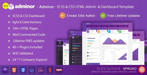 Adminor - Clean & Modern Responsive Bootstrap4 Admin Dashboard HTML5 Template - Admin Templates Site Templates