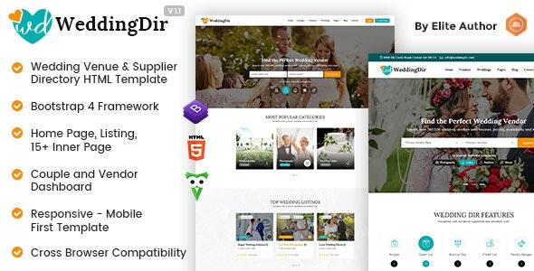 WeddingDir - Directory & Listing HTML Template - Business Corporate