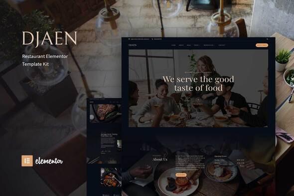 Djaen - Restaurant Elementor Template Kit - Food & Drink Elementor