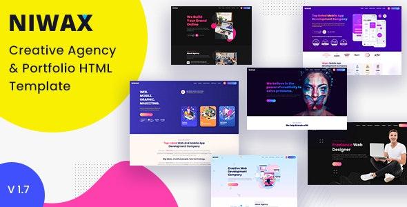 Niwax - Creative Agency & Portfolio HTML Template - Portfolio Creative