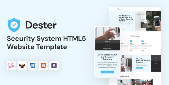 Dester - Security System HTML5 Template