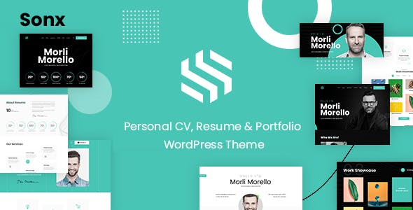 Sonx - Personal Resume and Portfolio WordPress Theme