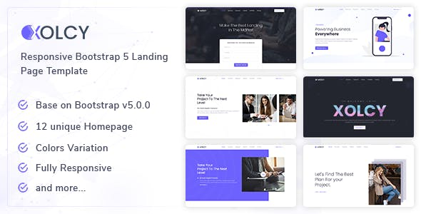 Xolcy - Bootstrap5 Creative Landing Page Template