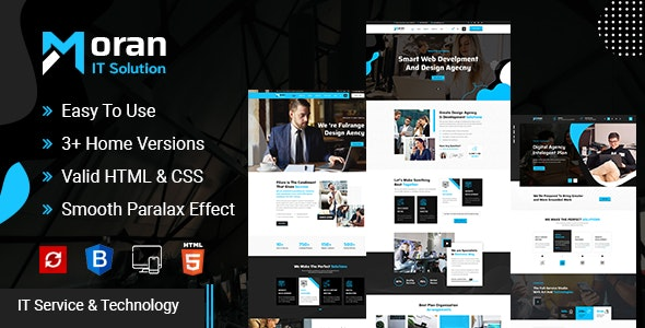 Moran - Technology & IT Solutions Template - Technology Site Templates