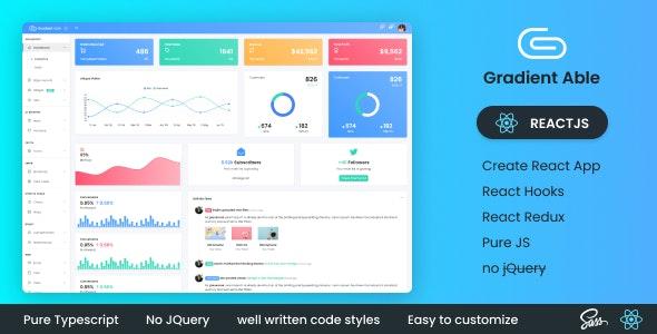 Gradient Able Reactjs Admin Dashboard - Admin Templates Site Templates