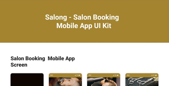 Salong - Salon Booking Mobile App UI Kit
