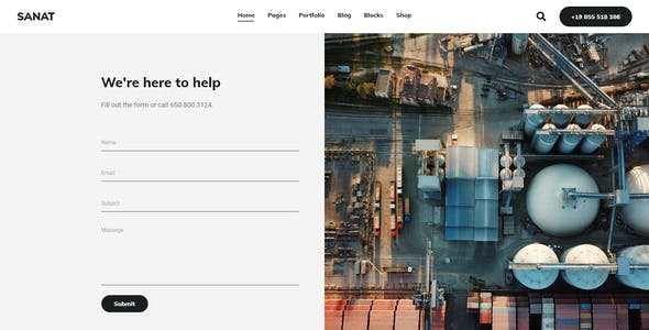 Sanat - Industry Elementor HTML Template