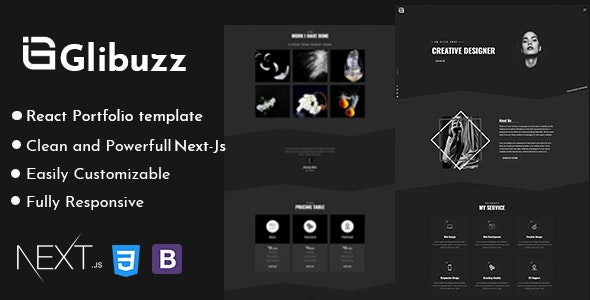 Glibuzz - Personal Portfolio Next Js Template - Portfolio Creative