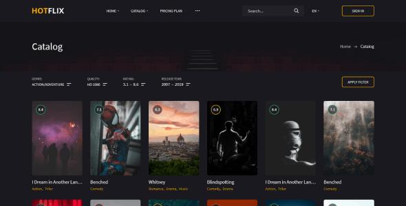 HotFlix – Online Movies, TV Shows & Cinema HTML Template